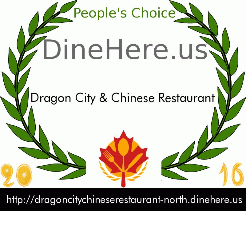 Dragon City & Chinese Restaurant DineHere.us 2016 Award Winner